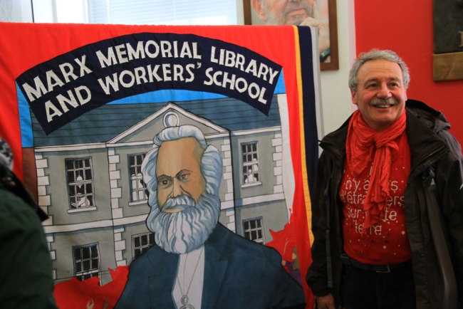 The Marx Memorial Library in London holds its open day event on May 1st every year which is also the International Workers' Day. [Photo: China Plus/Duan Xuelian]