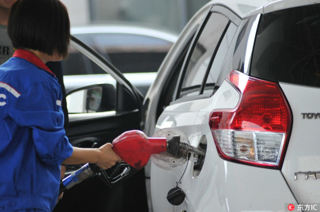 China will reduce the retail prices of gasoline and diesel from Tuesday, the second cut this month, the National Development and Reform Commission (NDRC) announced Monday, June 25, 2018. [File Photo: IC]
