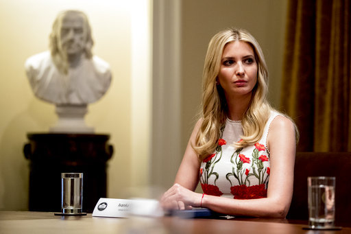 Ivanka Trump. [File Photo: AP/ Andrew Harnik]