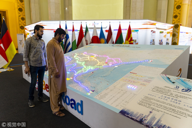 Picture of Belt and Road Routes. [File photo: VCG]