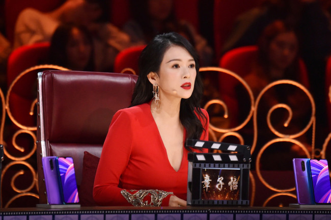 Zhang Ziyi, a Chinese actress made famous by the Oscar-awarding winning film, Crouching Tiger, Hidden Dragon,is one of the judges in the Chinese reality show I Am the Actor.[IC]