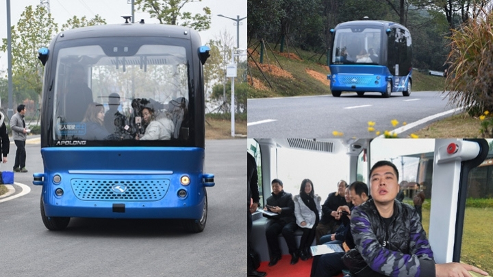 Driverless minibus put into commercial operation in Wuhan