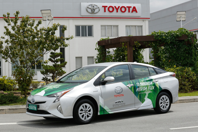 The prototype of Toyota's ethanol hybrid vehicle posted on Toyota's official website. [Photo: toyota.co]