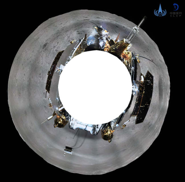 China's Chang'e-4 probe took panoramic photos on the lunar surface after it successfully made the first ever soft-landing on the far side of the moon. The China National Space Administration (CNSA) releases the 360-degree panoramic photos on Friday, Jan.11, 2019. [Photo: CNSA]