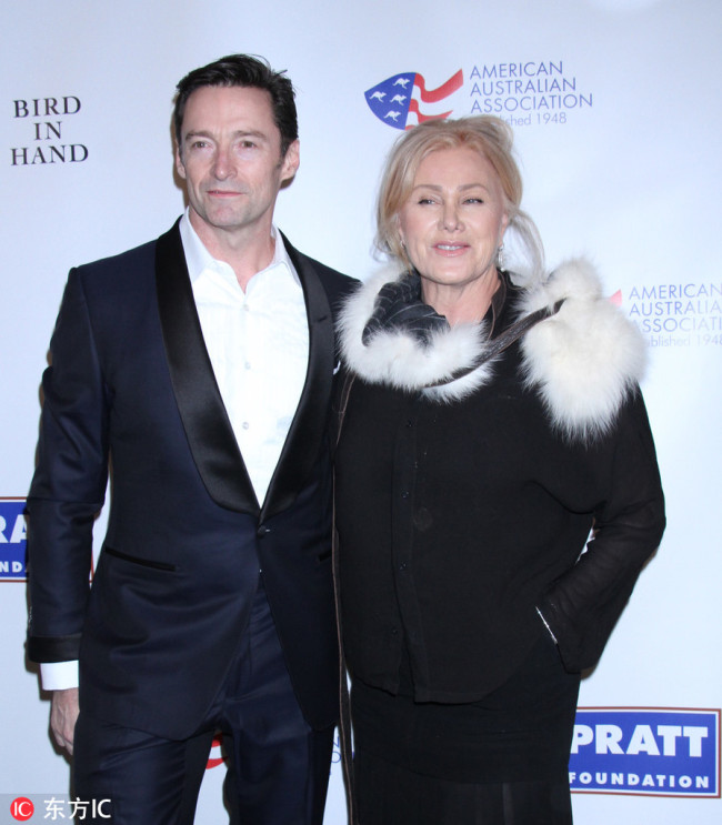 Hugh Jackman, Deborra-Lee Furness American Australian Arts Awards dinner, New York, USA - 31 Jan 2019.  [Photo:IC]