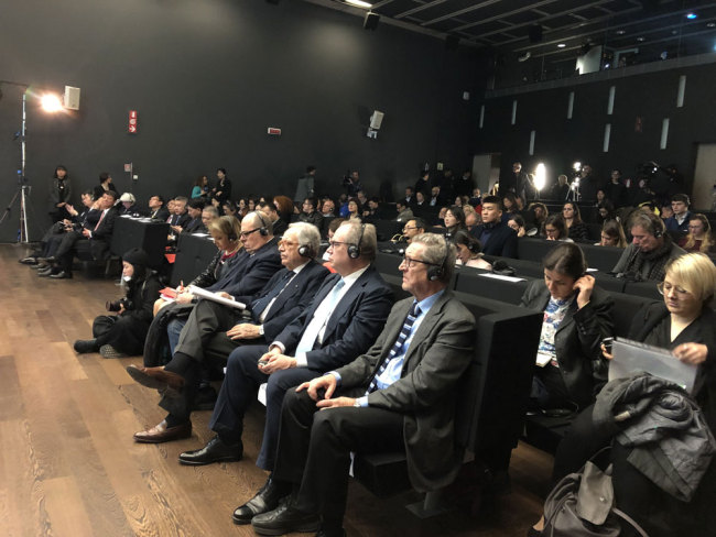 Representatives from Chinese and Italian media attend the China-Italy Media Dialogue held in Rome, Italy, on Wednesday, March 20, 2019. [Photo: China Plus]