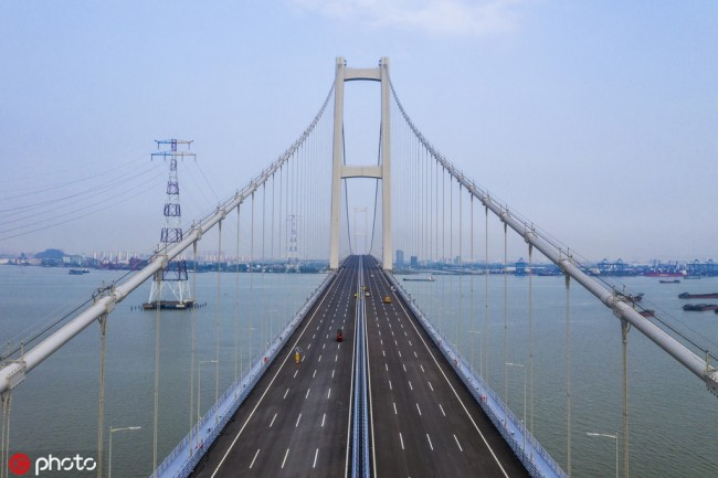 The Nansha Bridge at the Pearl River Estuary, seen here on March 28, 2019. [Photo: IC]