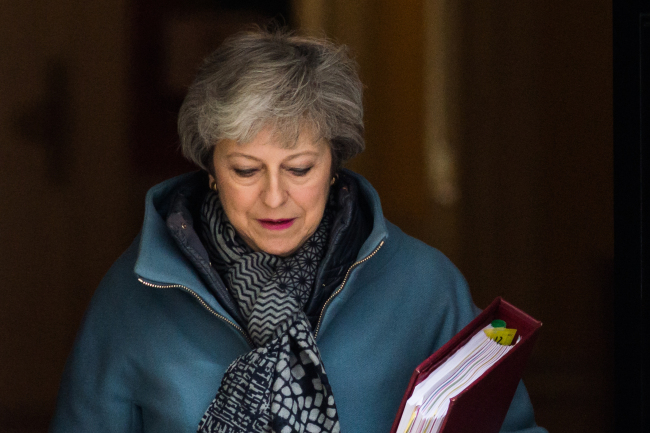 British Prime Minister Theresa May leaves 10 Downing Street for the weekly PMQ session in the House of Commons on April 3, 2019 in London, England. [Photo: IC]