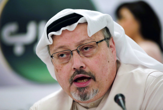 In this Dec. 15, 2014, file photo, Saudi journalist Jamal Khashoggi speaks during a press conference in Manama, Bahrain. [File photo: AP]