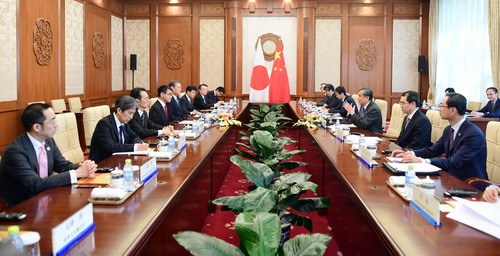 Chinese Foreign Minister Wang Yi holds talks with Japanese Foreign Minister Taro Kono in Beijing on April 15, 2019. [Photo: fmprc.gov.cn]