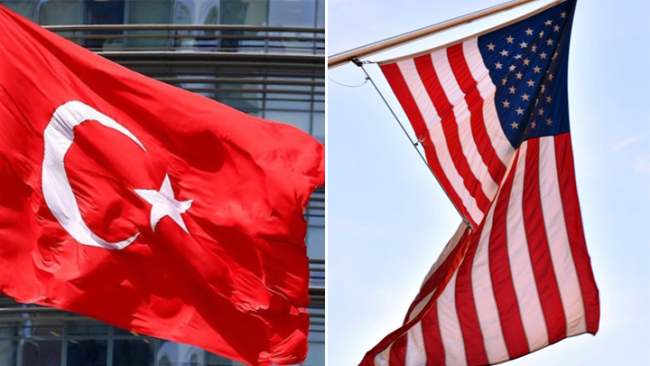 National flags of Turkey and the United States. [File Photo: China Plus]