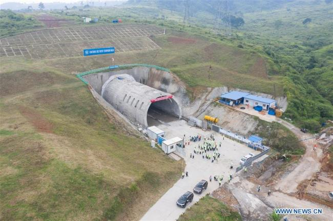 Photo taken on May 14, 2019 shows the first completed tunnel project of Jakarta to Bandung High Speed Rail in Walini, West Java, Indonesia. The 142.3 km-long Chinese-built High Speed Railway (HSR) project will connect Indonesia's capital Jakarta and West Java's Bandung in the southeast. [Photo: Xinhua/Du Yu]