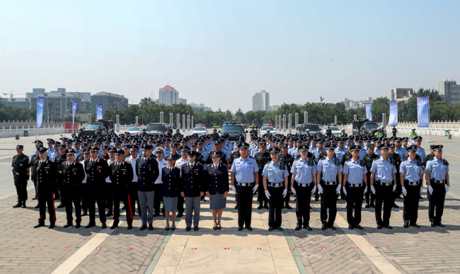 A ceremony launching joint patrols by Italian and Chinese police officers is held in Beijing on June 24, 2019. [Photo: VCG]