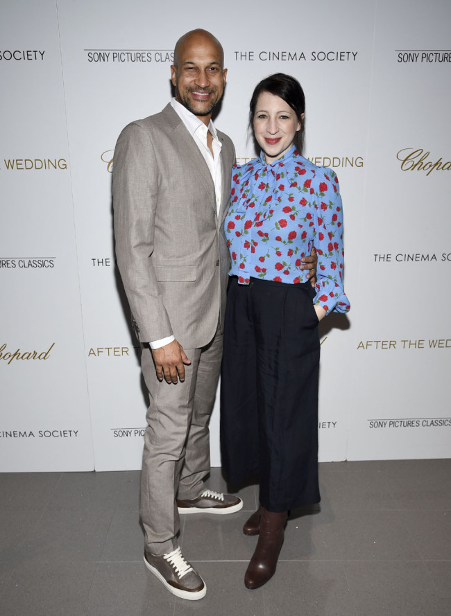 "Keegan-Michael Key, left, and Elisa Key attend a special screening of ""After the Wedding,"" at the Regal Essex on Tuesday, Aug. 6, 2019, in New York. [Photo: IC]"