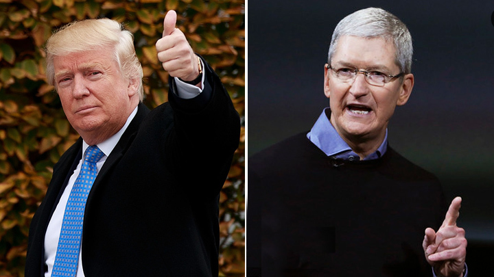 "Trump says Apple's Cook made ""good case"" by expressing concerns over tariffs"