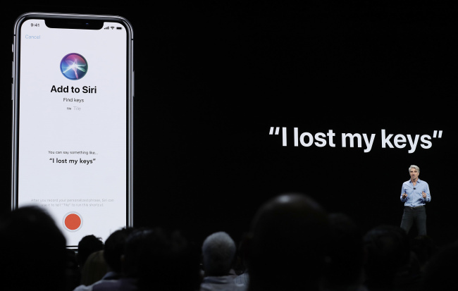Apple's senior vice president of Software Engineering, speaks about Siri during an announcement of new products at the Apple Worldwide Developers Conference in San Jose, Calif on June 4, 2018. [File photo: IC]