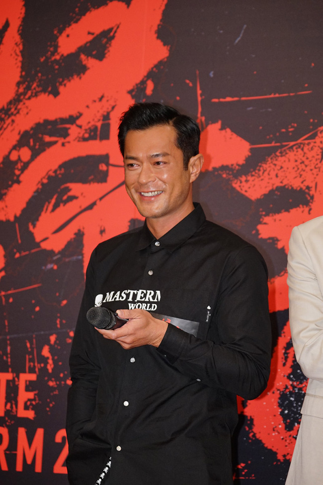 """Hong Kong actor Louis Koo Tin-lok attends a press conference for the Hong Kong action film """"White Storm 2 - Drug Lords"""" in Hong Kong, China, on 30 August 2018. [Photo: IC]"""