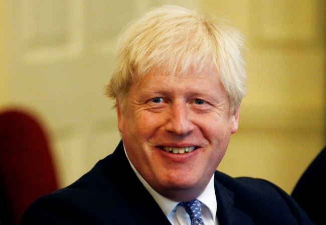 British Prime Minister Boris Johnson attends a roundtable meeting with military chiefs at Downing Street in London on September 19, 2019. [Photo: Pool/AFP/Henry Nicholls]