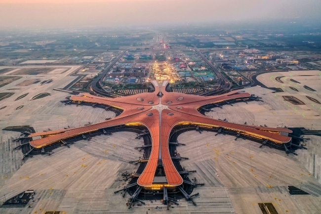 A bird's eye view of Beijing Daxing International Airport, on May 1, 2019. [Photo: VCG]