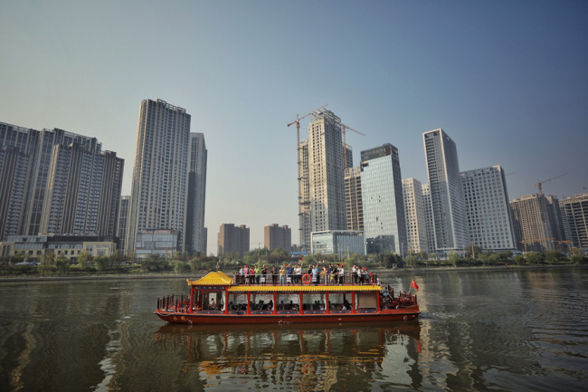 The northern stretch of the Beijing-Hangzhou Grand Canal opens to navigation on October 3, 2019. [Photo: IC]
