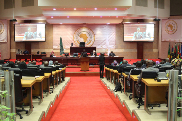 A congress session underway at the Pan-African Parliament. [Photo:Pan-African Parliament official website]