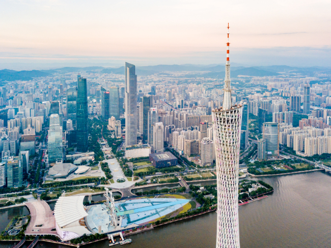 An aerial view of Guangzhou City, Guangdong Province. [File Photo: IC]