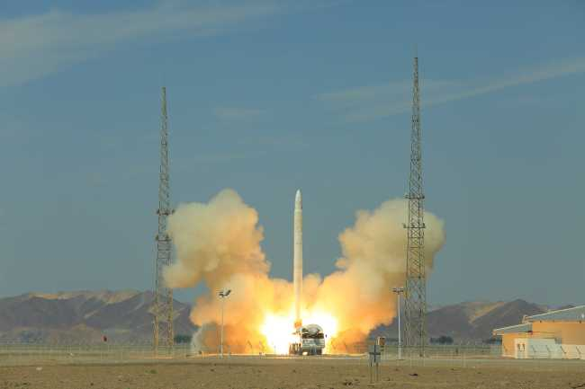 China's carrier rocket Smart Dragon-1 (SD-1) lifts three satellites into planned orbit at Jiuquan Satellite Launch Center in Gansu province on 17 August, 2019. [File photo: IC]