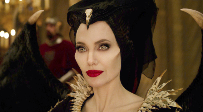 """This image released by Disney shows Angelina Jolie as Maleficent in a scene from """"Maleficent: Mistress of Evil."""" [Photo: AP/Disney]"""