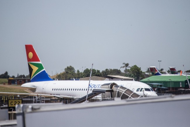 A SAA (South African Airways) airplane is seen at the O.R. Tambo International Airport in Johannesburg, South Africa, on November 15, 2019. [Photo: AFP]