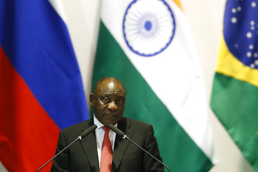 South Africa's President Cyril Ramaphosa speaks during the Leaders Dialogue with BRICS Business Council and the New Development Bank, at the Itamaraty Palace in Brasilia, Brazil, Thursday, Nov. 14, 2019. [File Photo: AP]